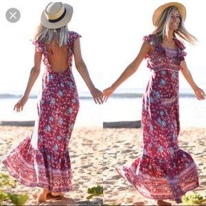 Spell Folktown Frill Dress